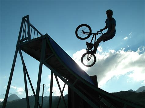 shadow bm free photo bmx shadow bicycle jump free image on