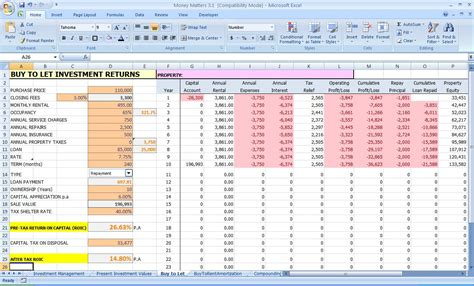 investment plan template xls excel improve your personal finances