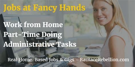 work from home part time for fancy real work from