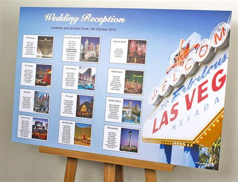 themed resort names las vegas themed wedding table plans