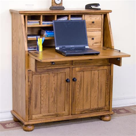 drop leaf secretary desk sedona drop leaf laptop desk armoire by sunny designs