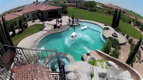 cool backyards with pools big backyard pool slides backyard design ideas