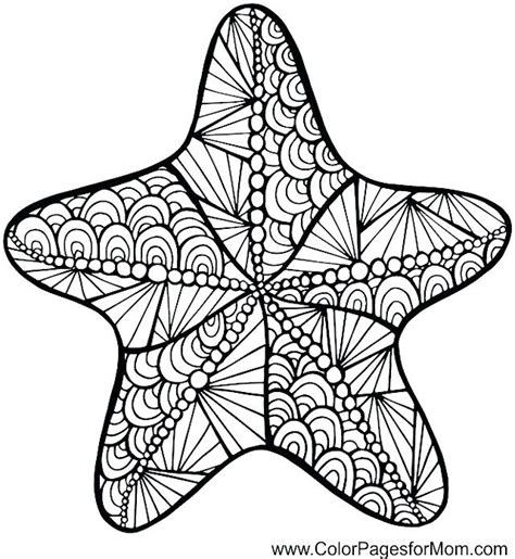cute starfish coloring pages starfish drawing free download best starfish drawing on