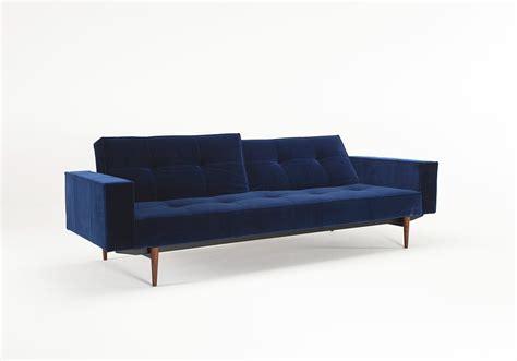 innovation sleeper sofa splitback sofa sleeper w arms by innovation home