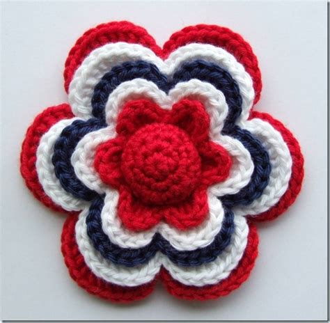 pattern flower english crochet flower pattern free english translation included