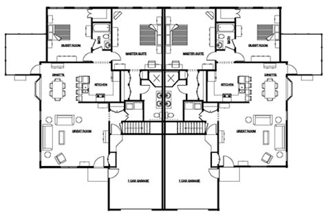 Duplex Floor Plans With Garage by Duplex Floor Plans With Garage Duplex First Floor