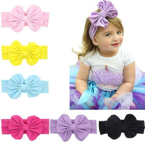 new products 12cm big cotton bow headwrap stretch bow aliexpress buy twdvs big bow knot hair band