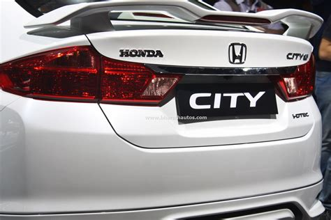 Spoiler Honda City honda city kitted up model with black interior at 2016