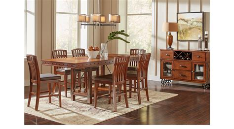 hook pecan 5 pc counter height dining room