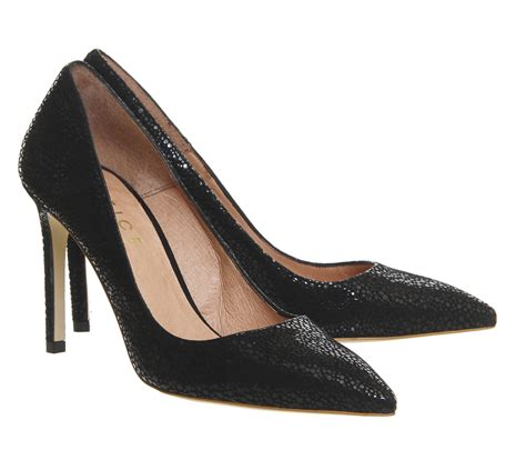 And Print Pumps At Office by Office Playful Point Court Heels Black Lizard Print High
