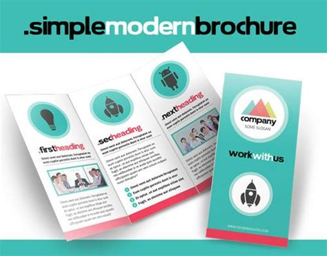 free simple modern brochure indesign template free