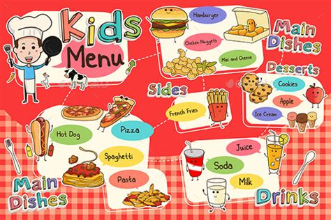 kids menu templates 26 free psd eps documents download