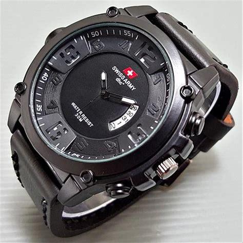 jual jam tangan pria swiss army ultrasize leather full