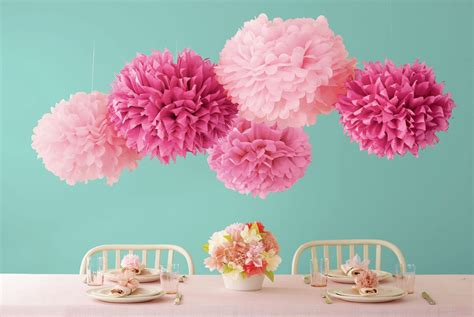 Make Tissue Paper Pom Poms - soft poms in how to make pom poms out of tissue paper