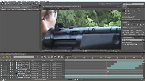 tutorial flash effect advanced muzzle flash tutorial after effects