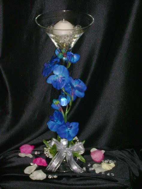 another martini glass centerpiece wedding centrepieces