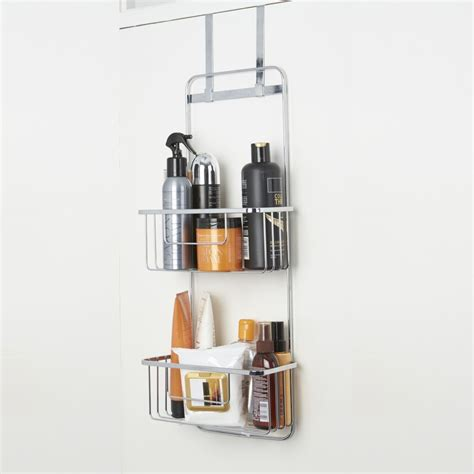 bathroom door rack croydex over door bathroom storage caddy rack