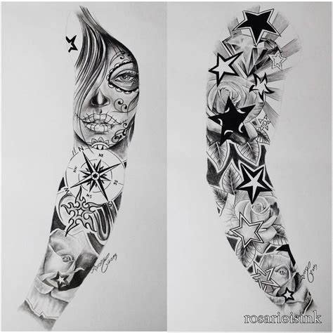 full sleeve tattoo designs drawings arm sleeve pinteres