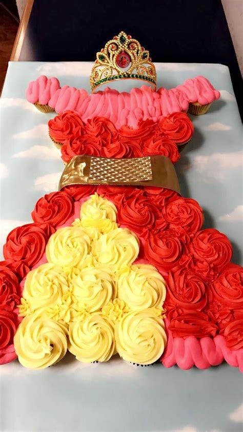 princess elena  avalor cupcake cake  creations pinterest princess cake  birthdays