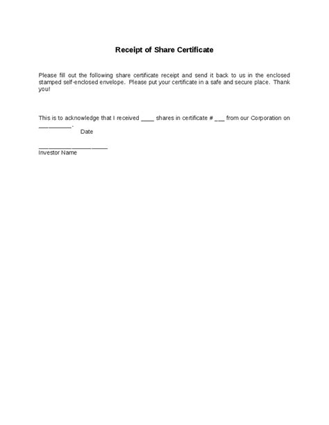 Certificate Of Receipt Template by Sales Certificate Template Car Sale Contract Form 5 Free