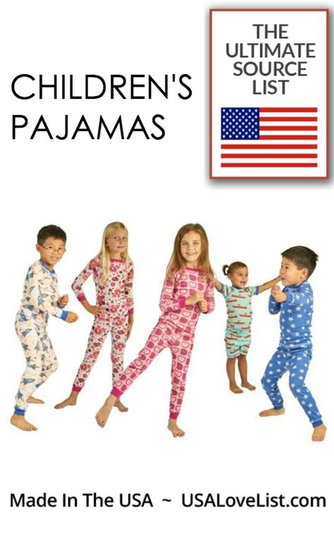 made in usa list made in usa kid s pajamas a usa list source guide