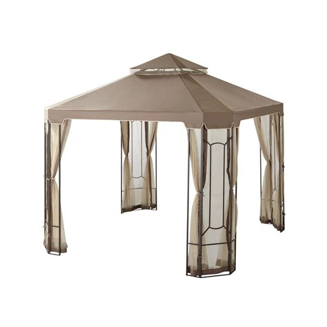 home depot gazebo hton bay 10 ft x 10 ft cottleville gazebo gfs00744a