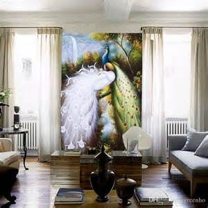 Elegant Wall Murals elegant mural photo wallpaper large size silk cloth charms
