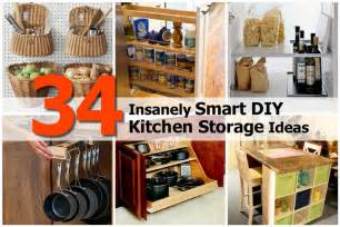 Diy Ideas For Kitchen 34 insanely smart diy kitchen storage ideas