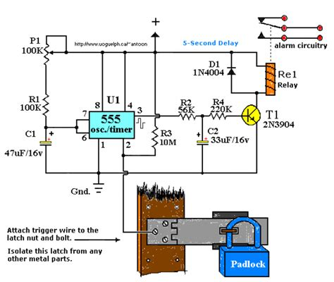 fundamental electronic circuits touch activated alarm system basic electronic project