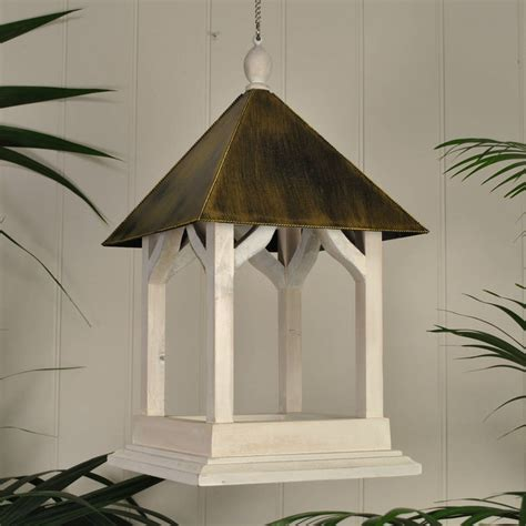 Handmade Bird Tables - large handmade wooden hanging bird table by garden