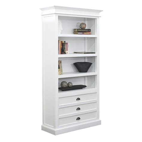 white bookcase with drawers halifax white mahogany bookcase with 3 drawers bookcases