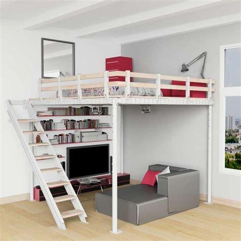 cama alta cama alta ts 8 con escalera lateral tecrostar