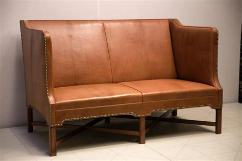 2 1 2 Person Sofa In Nigerian Goatskin On Cuban Mahogany