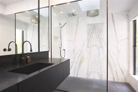 Ensuite Bathroom Design Nz by Black And White Bathroom Comes With Black Taps Shower And