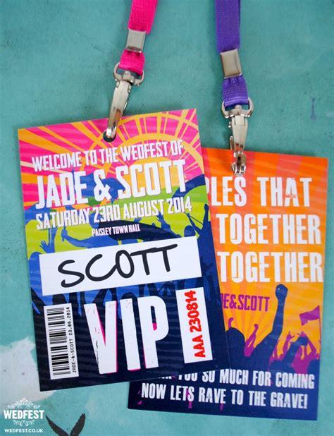 theme music vip music festival wedding stationery wedfest