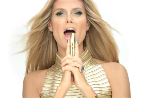 heidi klum pictures videos breaking news huffington post hear heidi klum speak german in new secret agent mascara