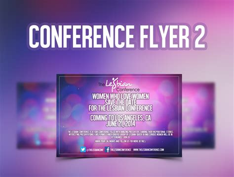 conference flyer template 2 free psd template