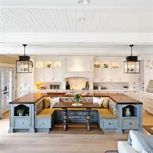 Kitchen Island Seating For 6 Kitchen Island With Built In Seating Home Design Garden Architecture Magazine