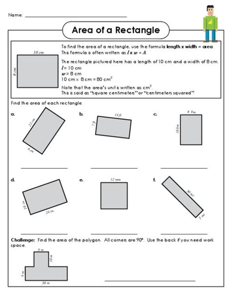 Area Of A Rectangle Worksheet by 1000 Images About Geometry On