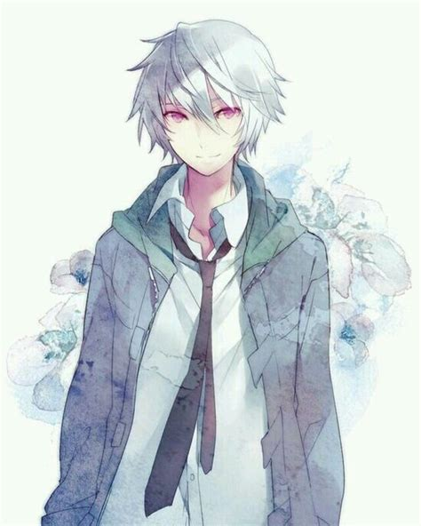 Cute Anime Boy With White Hair | 17 best images about kota on pinterest cute anime guys