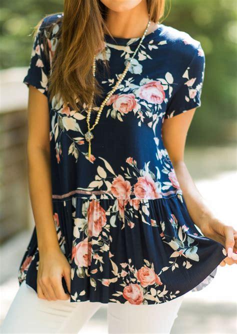 Blouse Fs05 Jfashion floral ruffled blouse without necklace fairyseason