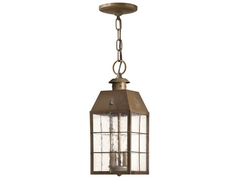 Nantucket Ceiling Light Hinkley Lighting Nantucket Aged Brass Two Light Outdoor Pendant Light 2372as