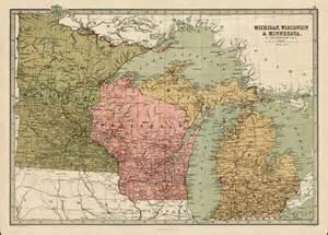 Minnesota Wisconsin Map by Michigan Wisconsin Amp Minnesota Barry Lawrence Ruderman