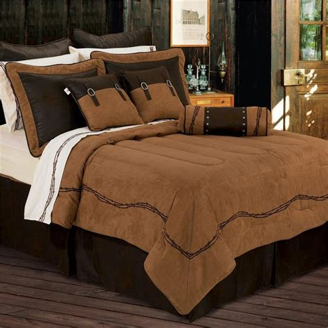tan bedding set ranch barbwire western bedding comforter dark tan
