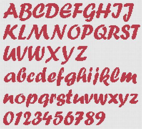 punto croce lettere schema alfabeto punto croce punto