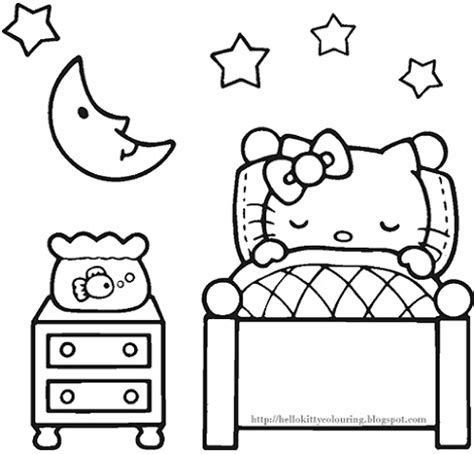 imprimir dibujos dibujos de hello kitty para imprimir pajama day coloring pages sketch coloring page