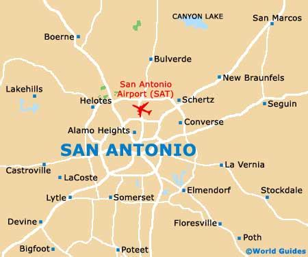 map of san antonio and surrounding area san antonio maps and orientation san antonio tx usa