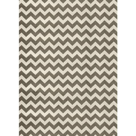 Grey And White Outdoor Rug Ruggable Washable Chevron Rich Grey And White 5 Ft X 7 Ft Stain Resistant Area Rug 93672 The