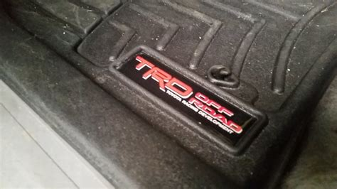 trd replacement decal for weathertech floor mats page 8 tacoma world