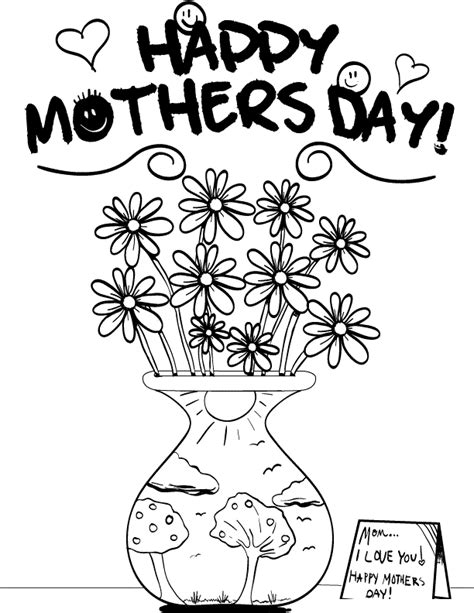 happy mothers day coloring page free printable mothers day coloring pages for
